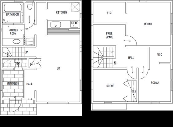 レギュラーサイズな79A。リビングは18.5帖と広々快適空間です。