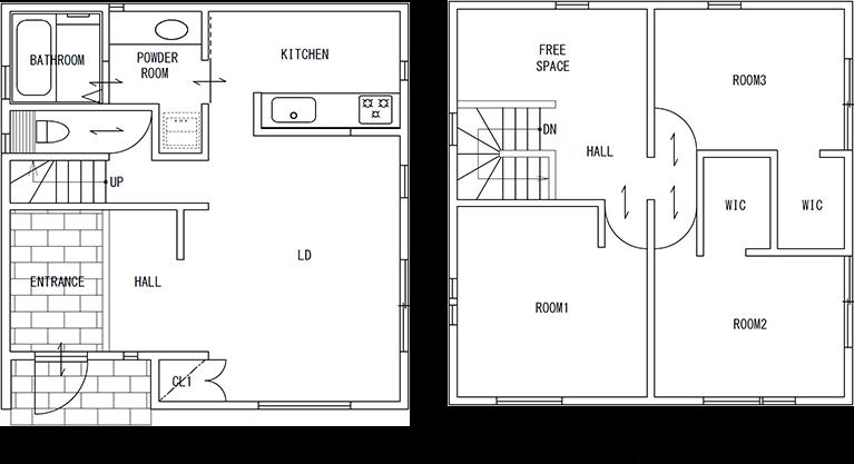 79Aと坪数が同じですが、こちらは全体が正方形になっています。